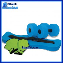 K236CBX Kit Acqua Fitness 2 manubri 2 guanti 1 cintura