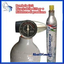 Kit Gasatura Cilindro 425 gr con Riduttore di pressione