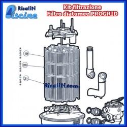 Diatomee Hayward Kit filtrante interno filtro DE7200 33 mc/h