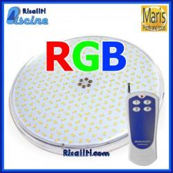 Lampada ricambio PAR56 LED RGB per piscina con radiocomando per colori e giochi Maris