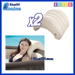 2x 28501 Cuscino Poggiatesta Spa Gonfiabile Intex