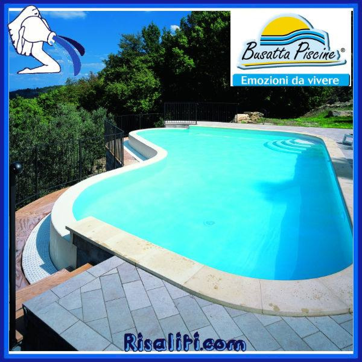 Risaliti depurazione acqua e piscine prato e pistoia - Piscina fuori terra in pendenza ...