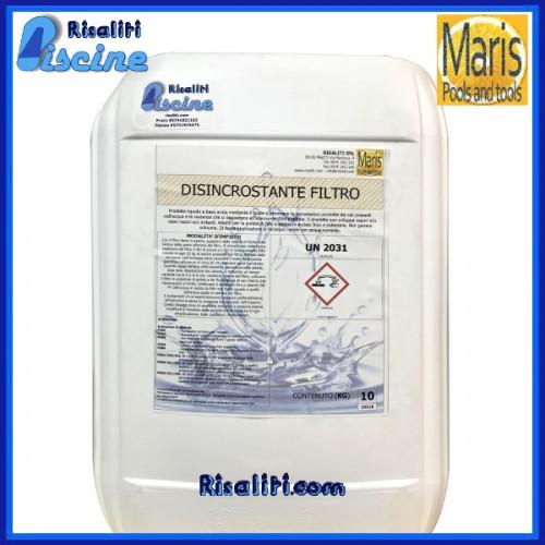 Disincrostante Filtro Liquido Manutenzione Piscina 10 kg Maris