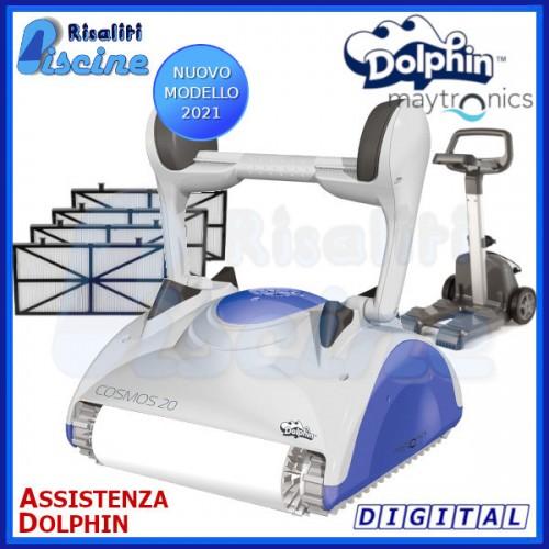 Dolphin Cosmos 20 Digital Robot Pulitore Piscina Wonder fondo pareti