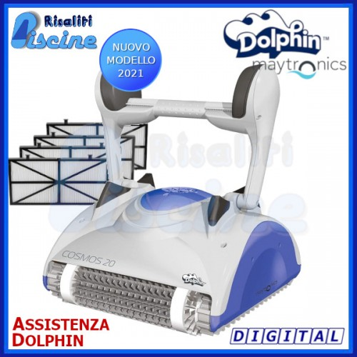 Dolphin Cosmos 20 Digital Robot Pulitore Piscina fondo pareti SENZA CARRELLO