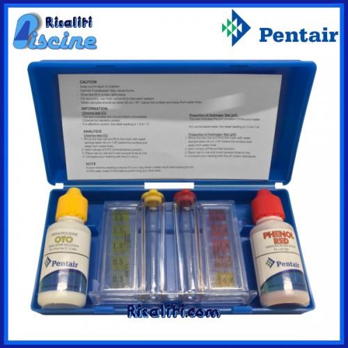 Kit Analisi cloro e pH gocce acqua piscine Pentair