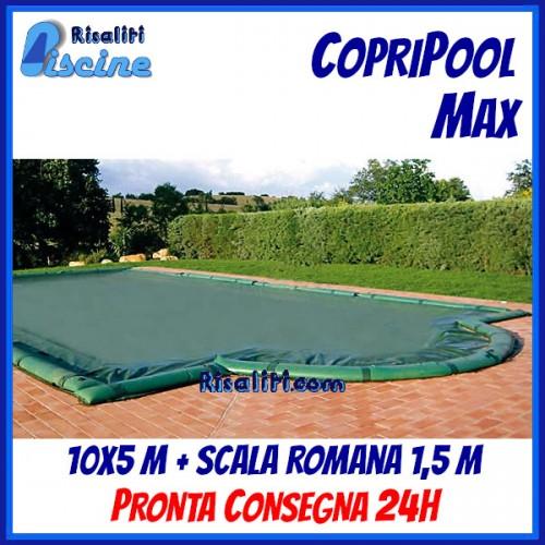 CopriPool Max CON TUBOLARI 10x5 + Scala Romana 1,5 m