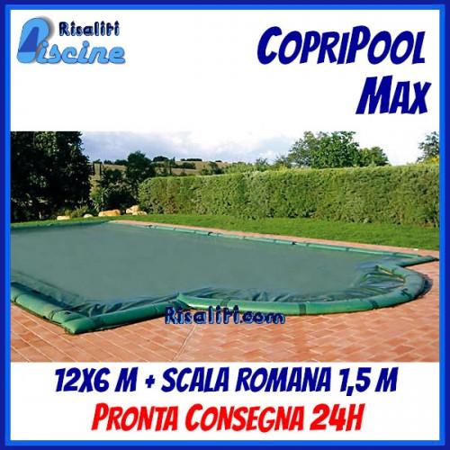 CopriPool Max CON TUBOLARI 12x6 + Scala Romana 1,5 m