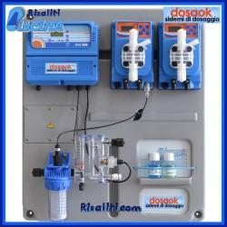 Sistema Pool Silver pannello cloro ph per piscine magnetico