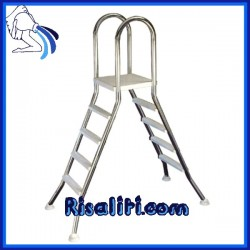 Scaletta Acciaio Inox 127 piscine fuori terra h127  4 gradini