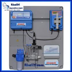 Pannello dosaggio e controllo cloro depurazione acqua potabile clorazione