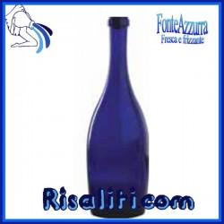 Bottiglia Vetro Blu Acquapur 750 cc