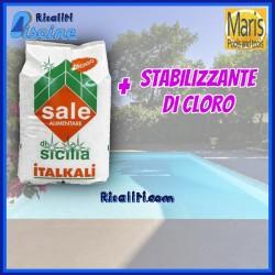 Sale Stabilizzato Piscine Elettrolisi Cloratore Acqua Salata Maris