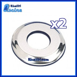 2x Scaletta Piscina inox cornice d 40 mm