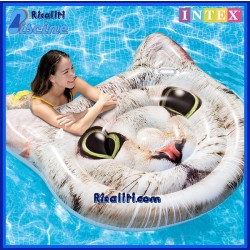 Materassino Gatto Isola Gattino Piscina Mare cm 147x135 Intex 58784
