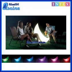 Faro luce Mezza Luna Luminosa RGB Giardino Piscina Festa Intex 68693
