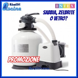 Filtro Sabbia 12 mc Piscina fuoriterra Intex 26652