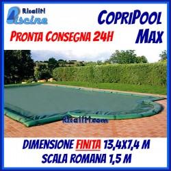 CopriPool Max CON TUBOLARI 13,4x7,4 Scala Romana 1,5 m