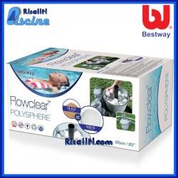 58475 Materiale Filtrante Flowclear Polysphere Bestway 500 gr