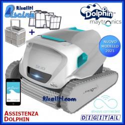 Robot Pulitore Piscina Dolphin SX40I Digital Smartphone Fondo Pareti Carrello