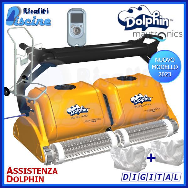 Dolphin 2x2 Pro Gyro Robot Pulitore Piscina www.risaliti.com