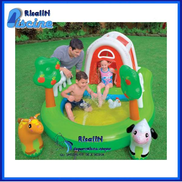 57455 Piscina Gonfiabile giardino Parco Giochi Fattoria www.risaliti.com