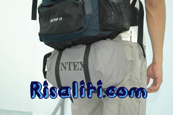 Materassino da campeggio insaccato per zaino Intex cm 76X191C18 I.6 69710 da risaliti.com