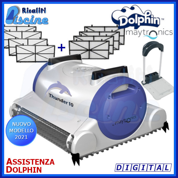 Dolphin Thunder 10 Robot Pulitore Piscina solo fondo www.risaliti.com