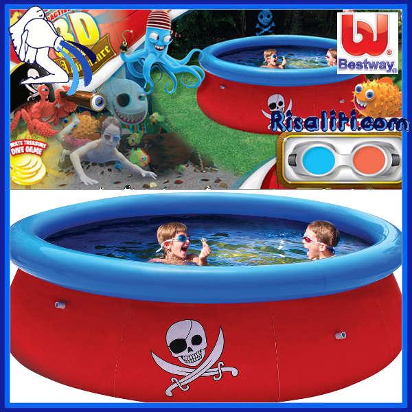 57243 Piscina fuoriterra bambini Fast diam cm 274xh76 www.risaliti.com