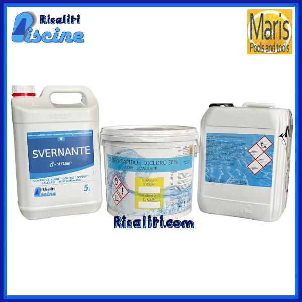 Risaliti depurazione acqua e piscine prato e pistoia kit svernante manutezione piscina max 100 - Svernante per piscine ...