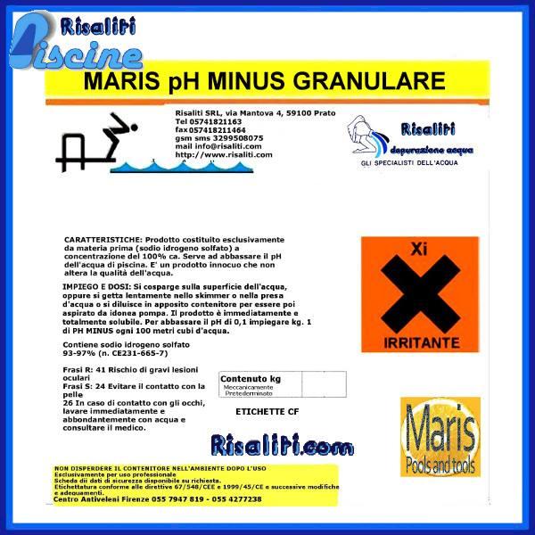 Ph Meno abbattitore PH Piscina Maris www.risaliti.com