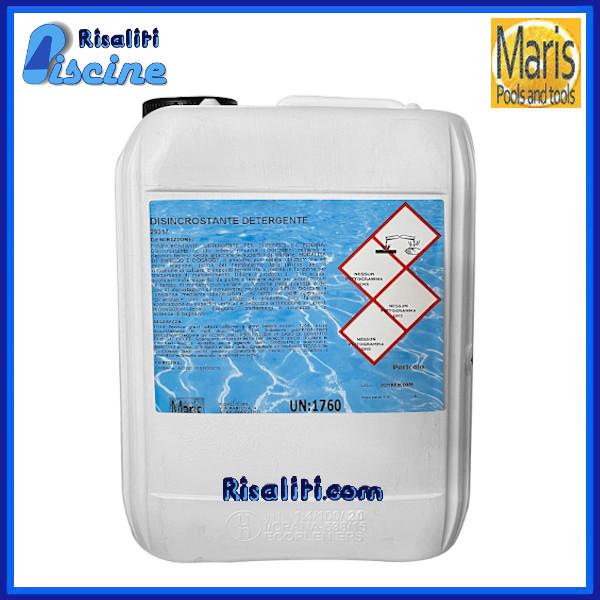 Disincrostante Detergente Manutenzione Piscina 5 kg Maris www.risaliti.com