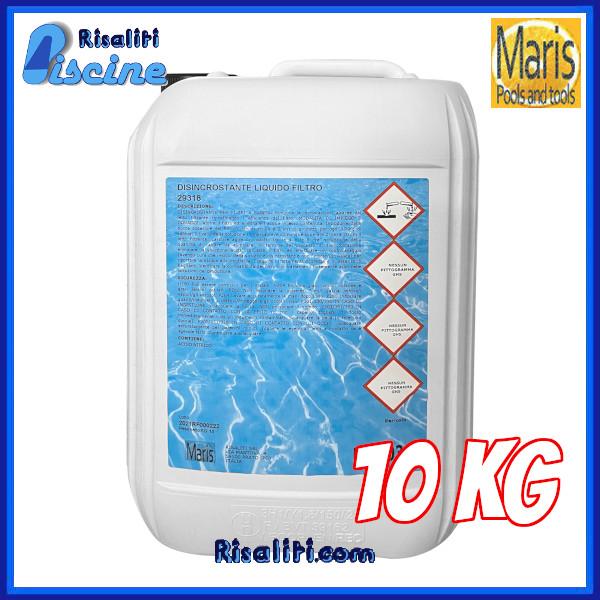 Disincrostante Filtro Liquido Manutenzione Piscina 10 kg Maris www.risaliti.com