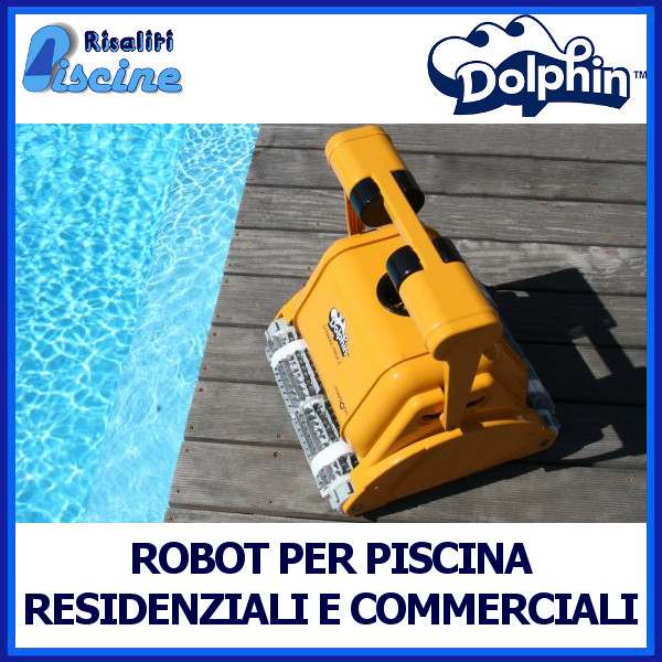 Robot Piscina Pulitore Automatico Dolphin Maytronics www.risaliti.com