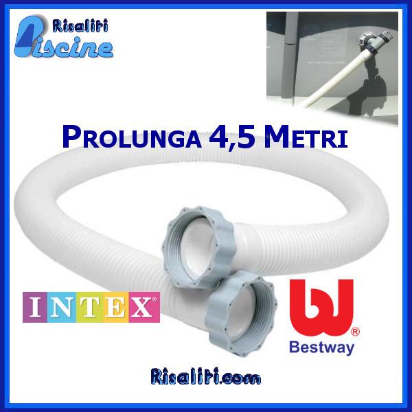 Tubo Prolunga Piscina Filtro Sabbia Intex Bestway 450 cm www.risaliti.com