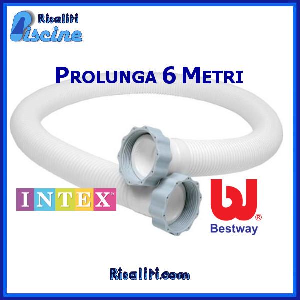 Tubo Prolunga Piscina Filtro Sabbia Intex Bestway 600 cm www.risaliti.com