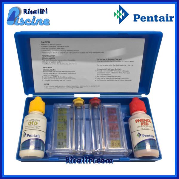 Kit Analisi cloro e pH gocce acqua piscine Pentair www.risaliti.com