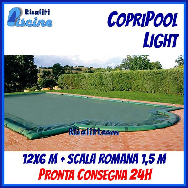 CopriPool Light CON TUBOLARI 12x6 + Scala Romana 1,5 m www.risaliti.com