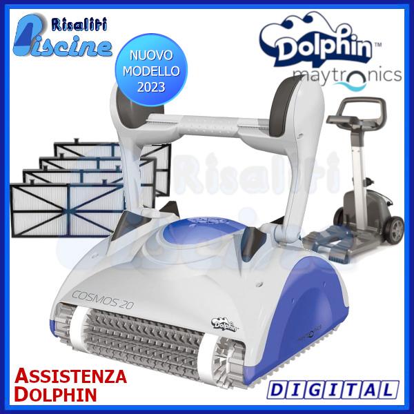 Dolphin Cosmos 20 Digital Robot Pulitore Piscina fondo pareti  www.risaliti.com