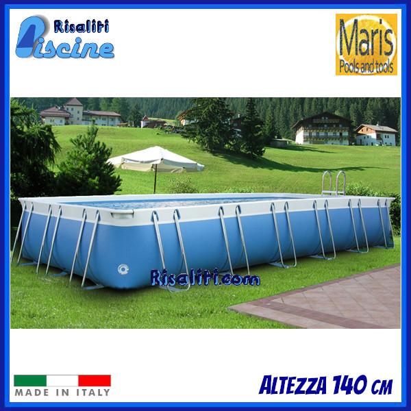 Piscine Rettangolari Fuori terra LIA Altezza 140 cm www.risaliti.com
